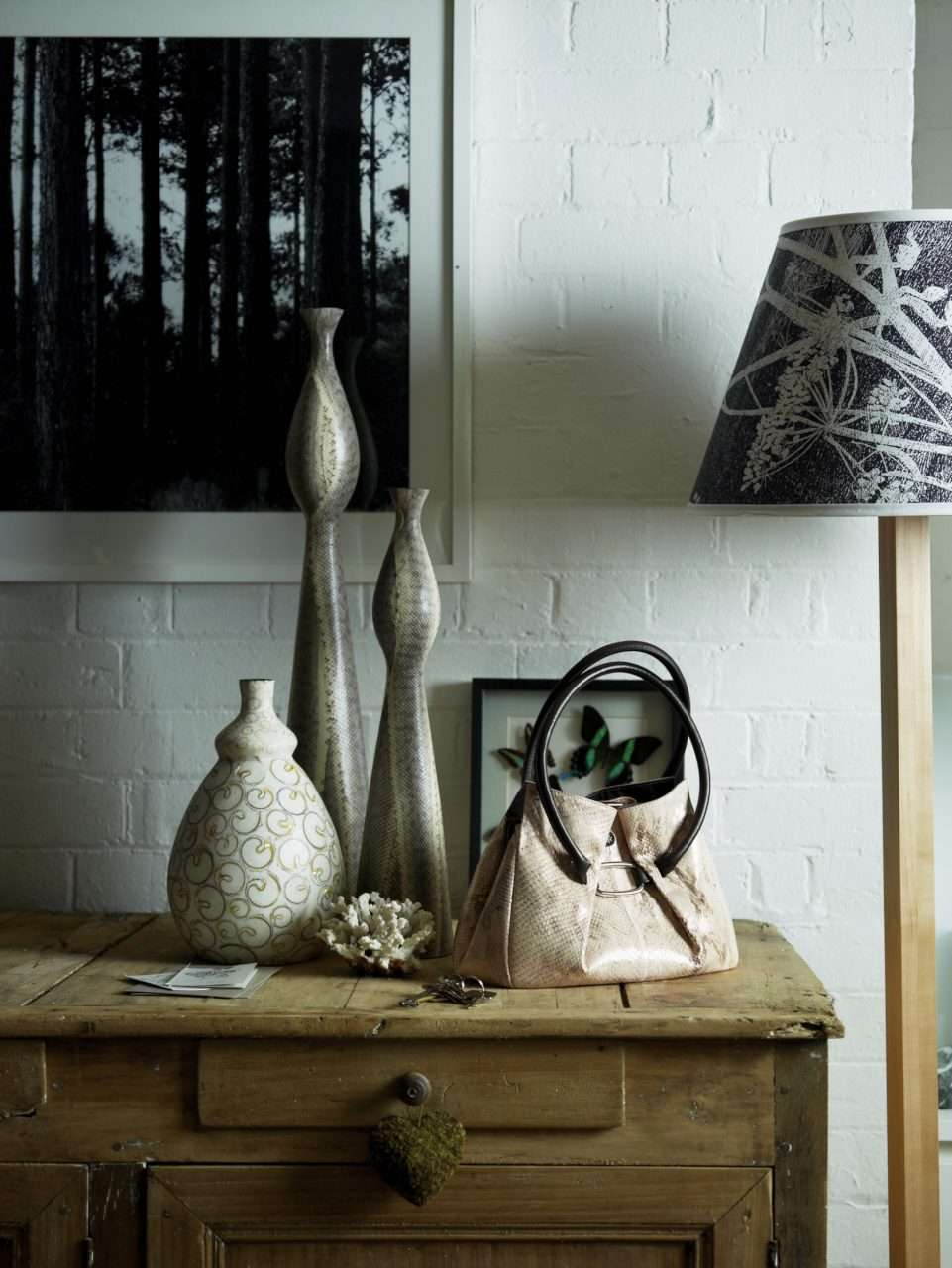 Handbag Lamp Butterflys Vases-012
